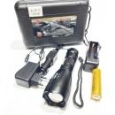 Фонарь ручной с большой линзой и фокусировкой Police BL-1891-T6, 1х аккумулятор, ЗУ 12/220В
