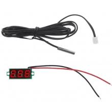 Цифровой датчик температуры -50℃ ~ 125℃ - универсальный автомобильный термометр DC 4,0V- 28V врезной без корпуса