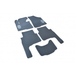 Коврики в салон ворсовые (текстильные) Kia Sorento (2009-2012) 5мест /Серые, кт 5шт