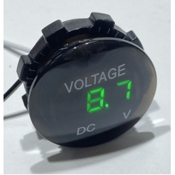 Цифровой вольтметр врезной 12 вольт - 24 вольта (DC5V-48V) влагозащита Зеленый