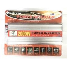 Автомобильный преобразователь напряжения 12-220 вольт 2000 Вт (инвертор напряжения)