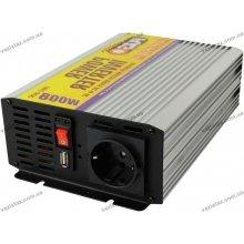 Инвертор автомобильный 12В на 220В | 800Вт | USB | Pulso IMU-800 | модифицирован. волна