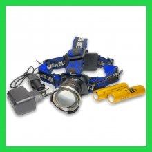 Налобный фонарь Police XQ-24-T6 - 28000W, Т6, zoom, аккум.