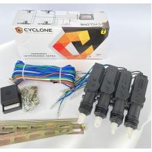 Комплект центральных замков Cyclone DLS-222 на 4 двери, 2 5-ти проводных привода (без пультов ДУ)