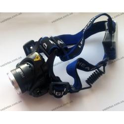 Налобный фонарь Police XQ-244-T6 (204С) / 28000W, zoom, ААА, без аккумуляторов