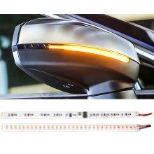 Динамические LED поворотники - бегущие светодиодные указатели поворотов в зеркало 17 см (2 шт.)