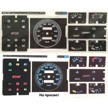 Вставки в панель приборов ВАЗ 2108, 2109, 21099 (низкая панель)