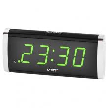 Часы VST VST-730 сетевые 220В led будильник зеленые