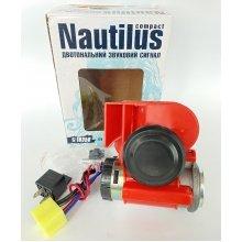 Звуковой сигнал на авто Vitol CA-10350 / автомобильный воздушный компрессорный сигнал Nautilus «Compact» красный