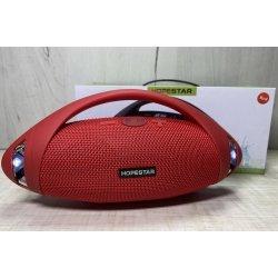 Портативная беспроводная Bluetooth колонка Hopestar H37 10Вт, 1500mAh, радио, красная