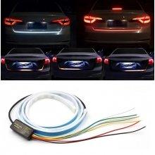 Динамическая LED подсветка багажника, гибкая светодиодная лента на багажник с бегущим поворотом - автомобильный стоп сигнал LED 1,2м 12В