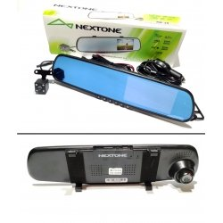 Автомобильный видеорегистратор в зеркале с двумя камерами NEXTONE MR-10