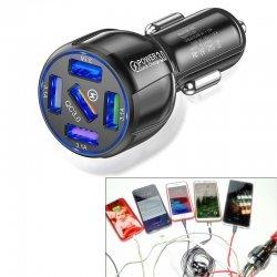 Зарядка в прикуриватель авто на 5 USB от 12 - 24 вольта на QC 3.0 Quick Charge Mega
