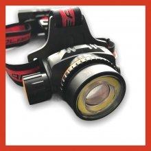 Налобный фонарь для рыбалки Police WT01-T6 COB USB / аккумуляторы 18650