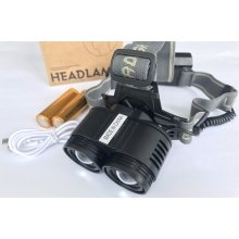 Аккумуляторный мощный налобный фонарь Police F2002-2T6