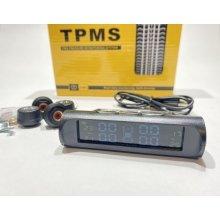 Система контроля давления в шинах + температура TPMS 4 внешних датчика (солнечная панель, USB)