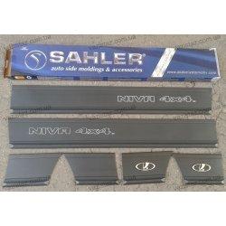 Молдинги на Ниву ВАЗ 21214 SAHLER 4x4 (широкий 14см)