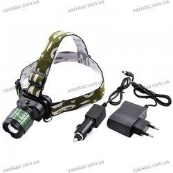 Налобный фонарь Police/Bailong BL-6808-18000W XPE, zoom, аккум.
