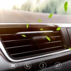 Освежитель воздуха в автомобиль (ароматизатор в машину) Baseus silver + 6 сменных картриджей