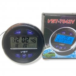 Часы - термометр - вольтметр VST 7042V (ВАЗ 2106-2107)