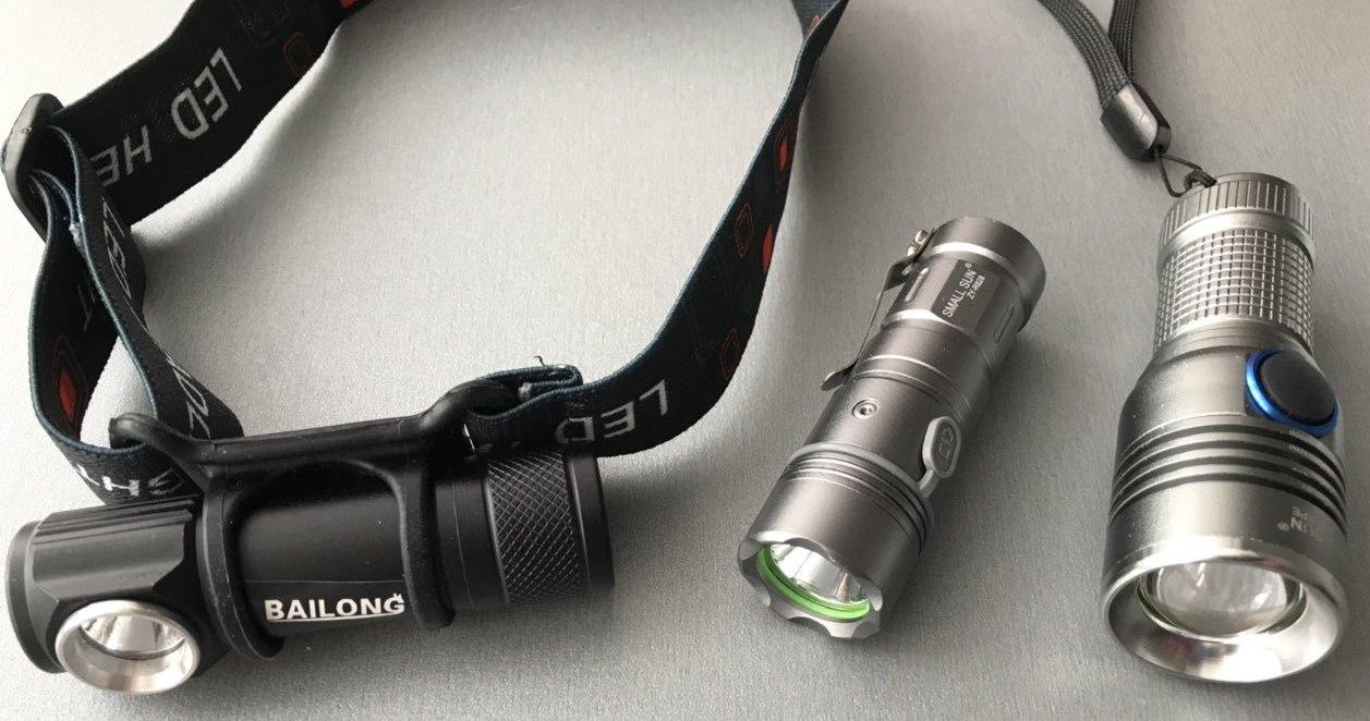 Фото большого выбора карманных фонариков с аккумулятором