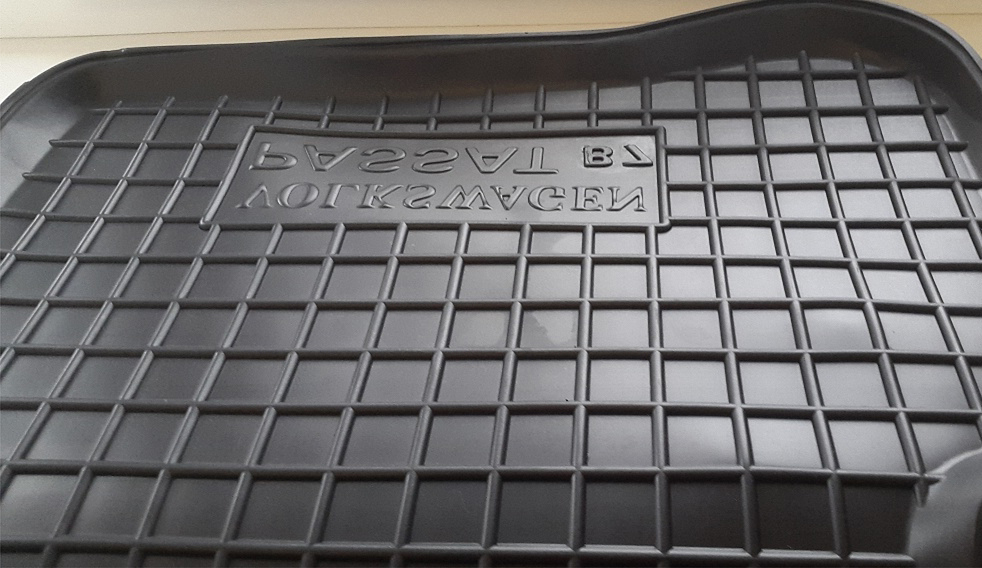 Резиновые ковры салона avto-gumm рисунок клеточка