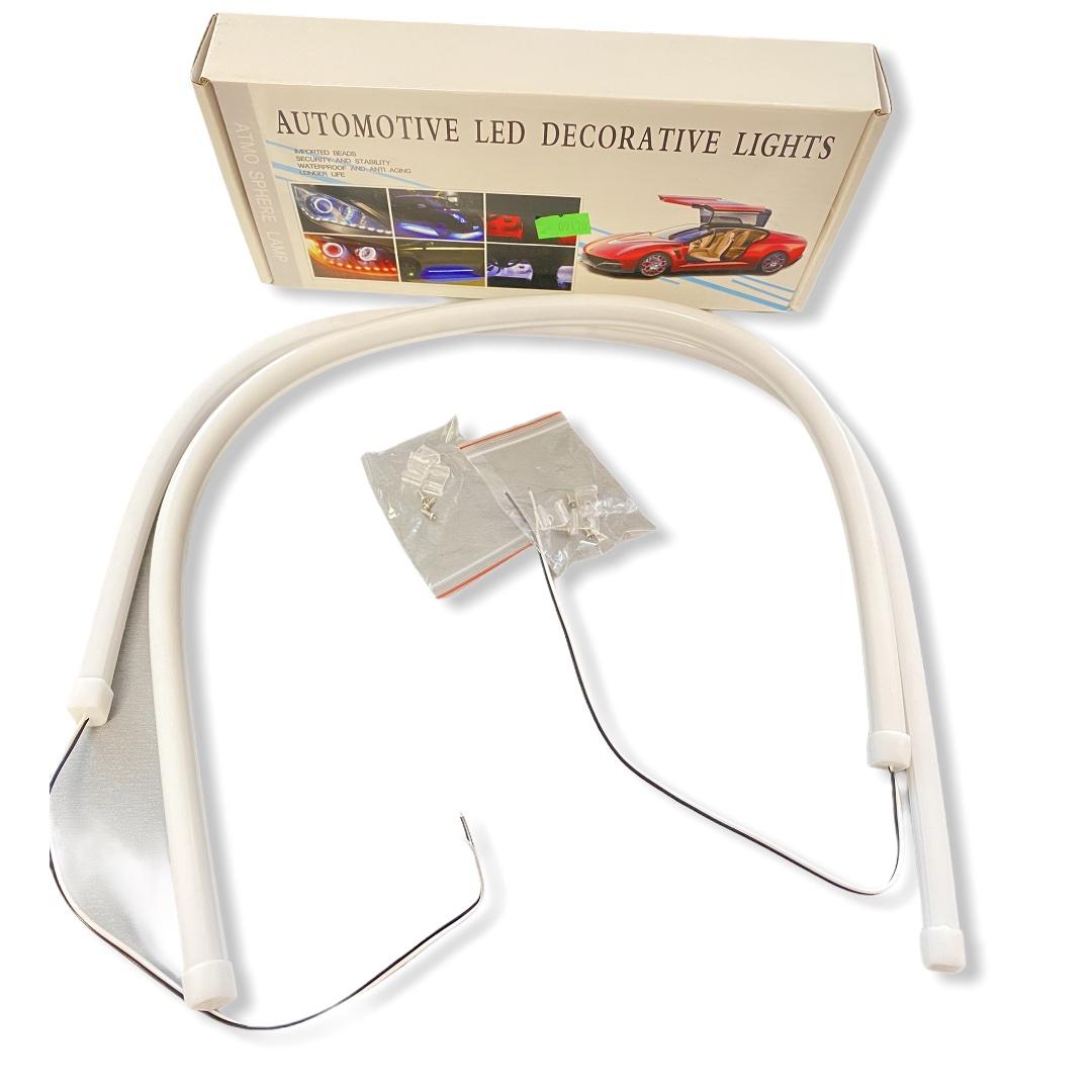 Дневные ходовые огни гибкие Белые 2 по 60см (без поворотника) универсальные ДХО LED DRL 2шт по 60см
