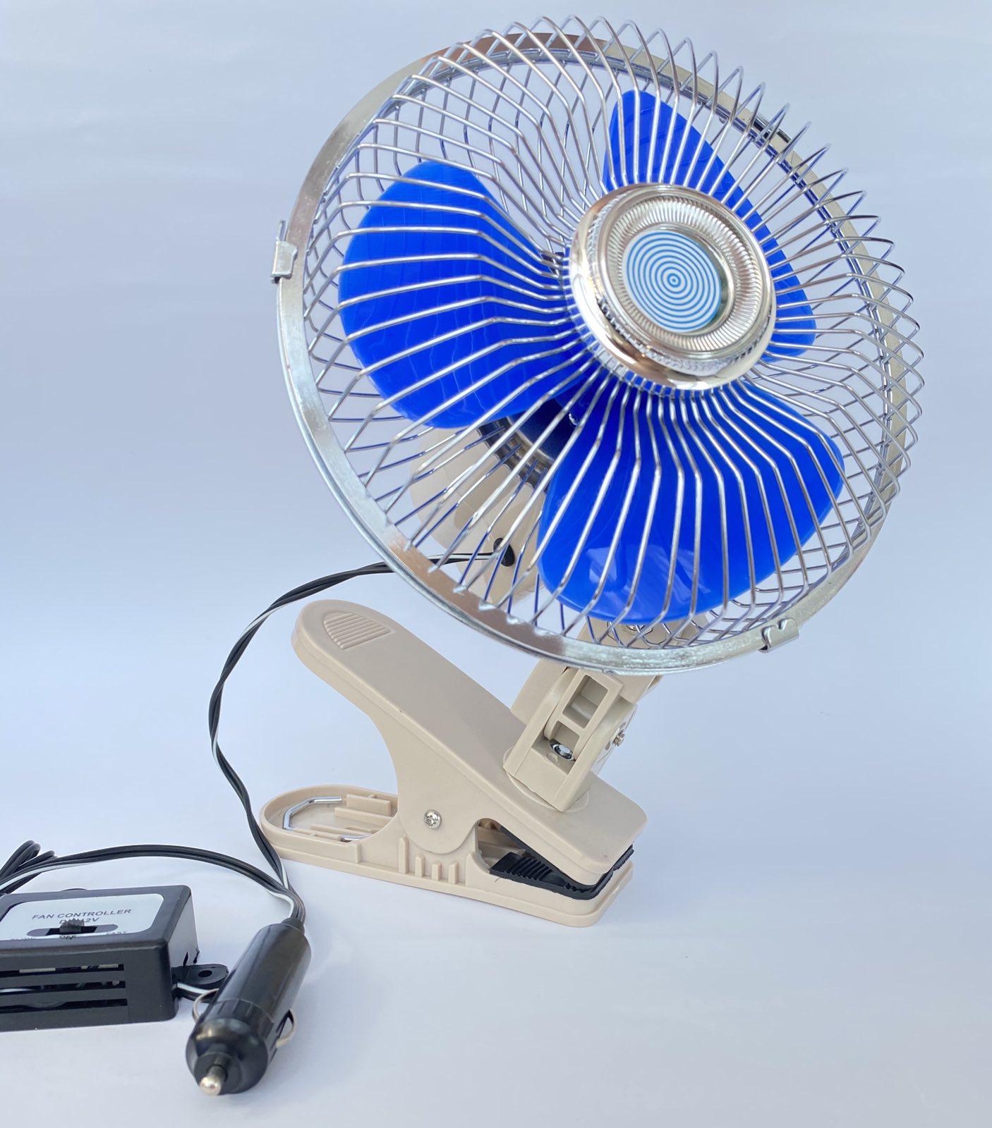 Фото автомобильного вентилятора с прищепкой ВН.12.607С/HF-307C: