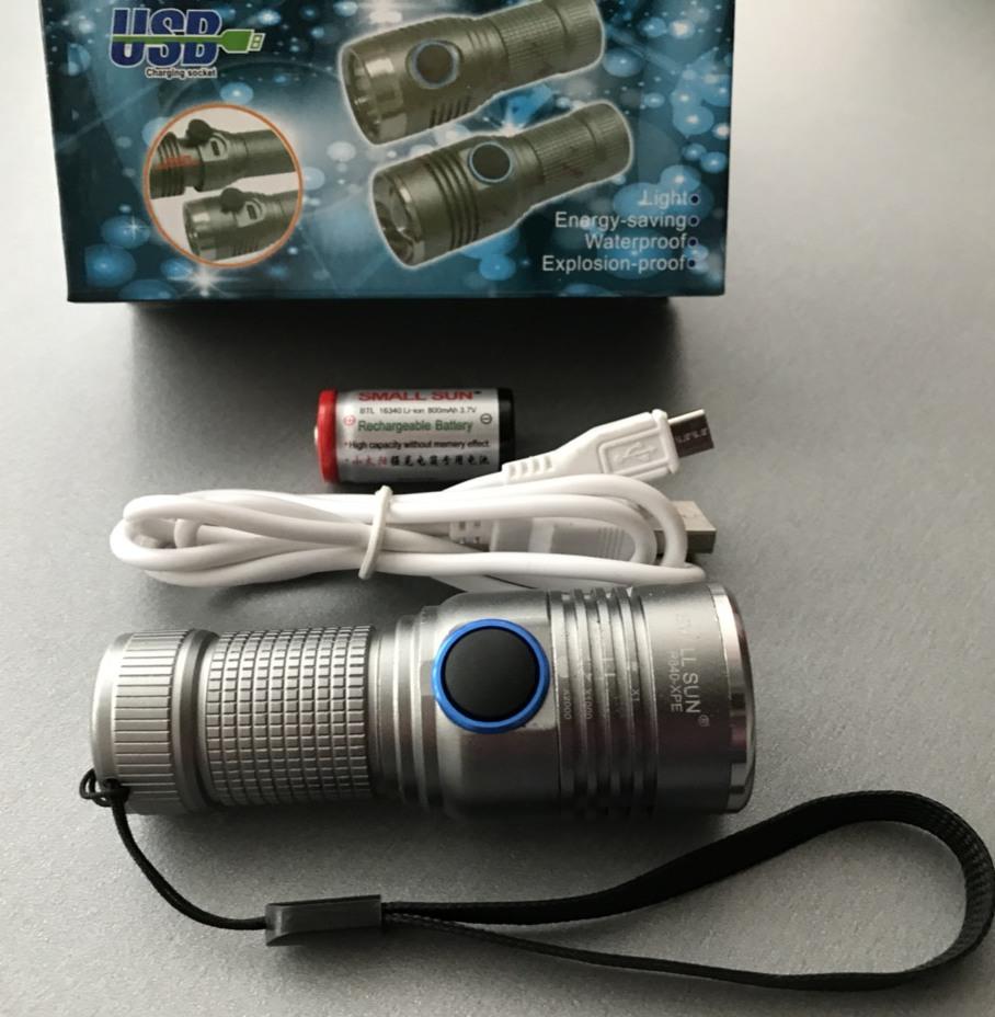 Фото комплектации карманного фонарика Small Sun R840-XPE
