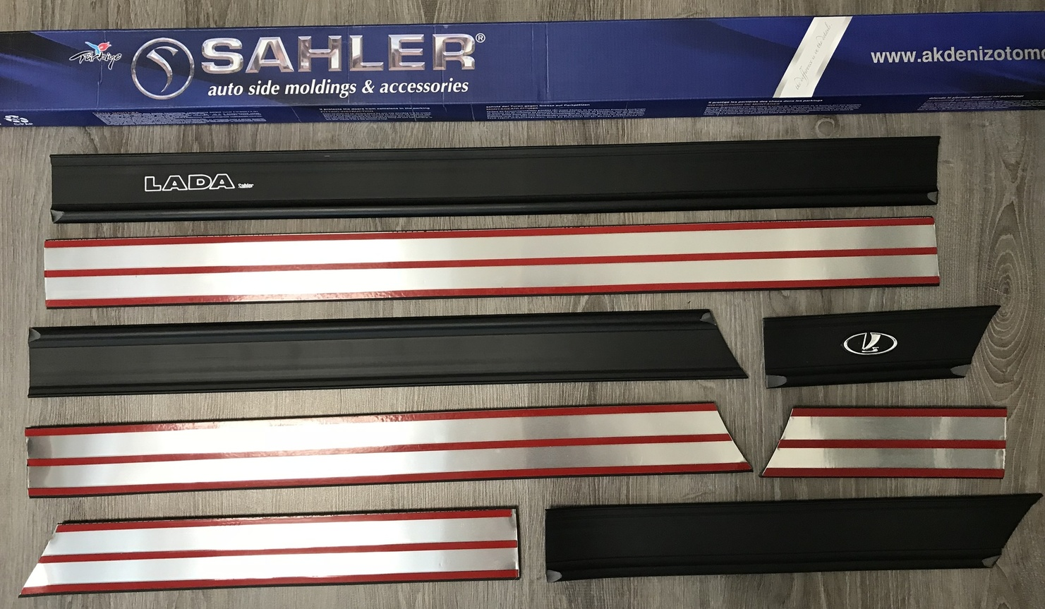 Молдинги на ВАЗ 2106, 2107, 2101 SAHLER - купить накладки на двери LADA полуширокий