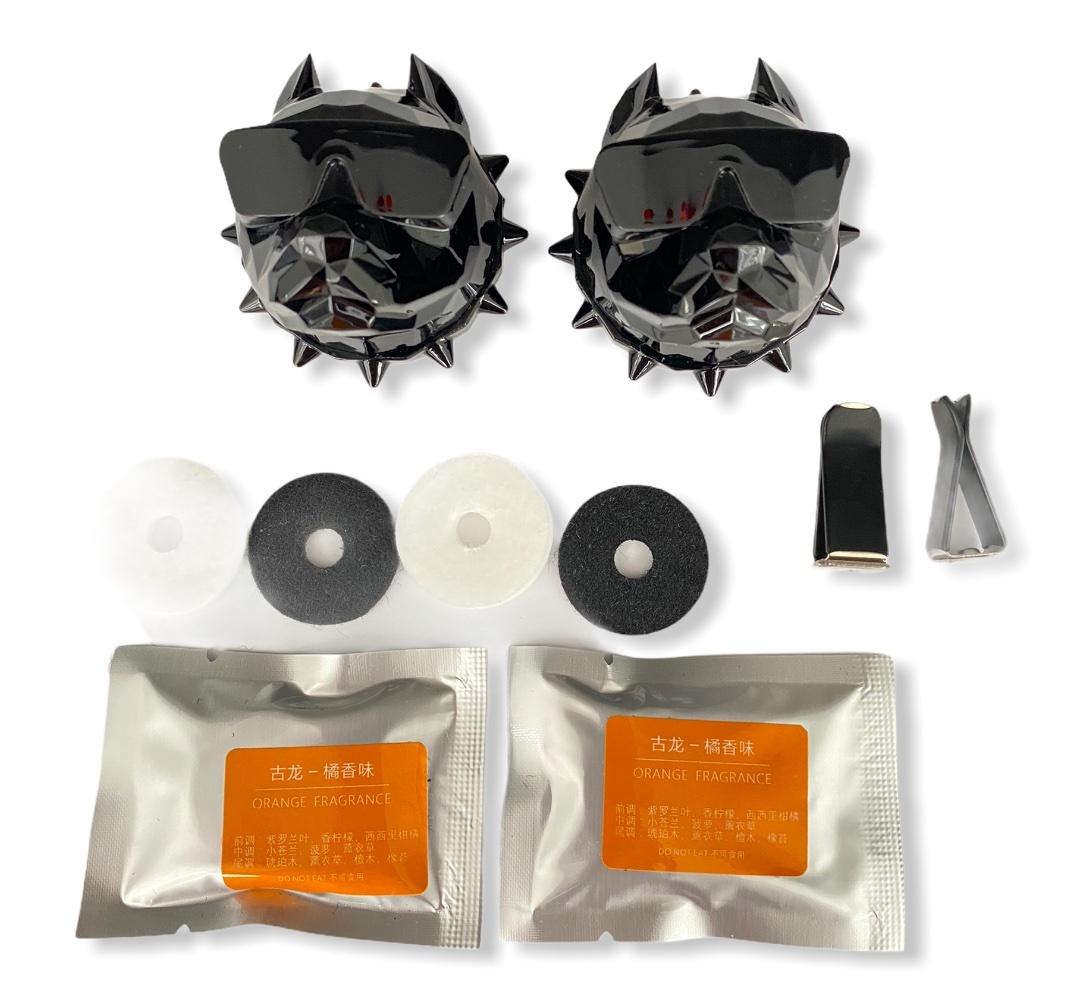 Освежитель воздуха в автомобиль (ароматизатор в машину) Pitbull + 2 сменных картриджа + многоразовый (2шт.) Черный