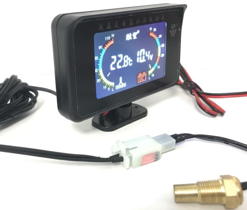 Купить датчик температуры охлаждающей жидкости + вольтметр 12-24 вольт
