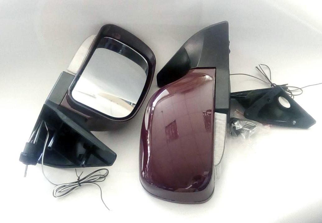 Купить зеркало заднего вида на ВАЗ 2109 - 2115 с повторителем бордовые баклажан KL-2109L Red